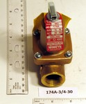 Watts 174A-3/4-30 Relief Valve 3/4 30Psi 650K Btu 0274428
