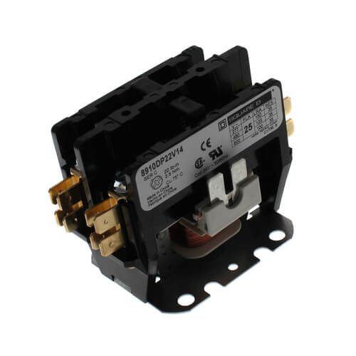 Schneider Electric (Square D) 8910DP22V14 2 Pole Contactor - 24V, 25 Amp
