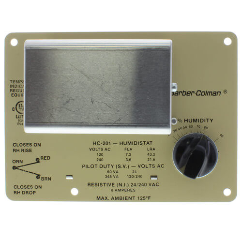 Schneider Electric (Barber Colman) HC-201 Duct 15 to 95 % RH Controller Humidistat