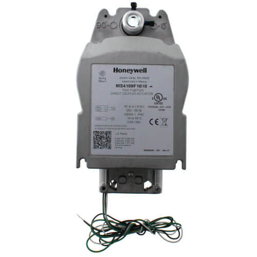 HONEYWELL MS4109F1010 Fast Acting, Two-Position Spring Return Actuator (CW & CCW, 120V, 80 lb-in)