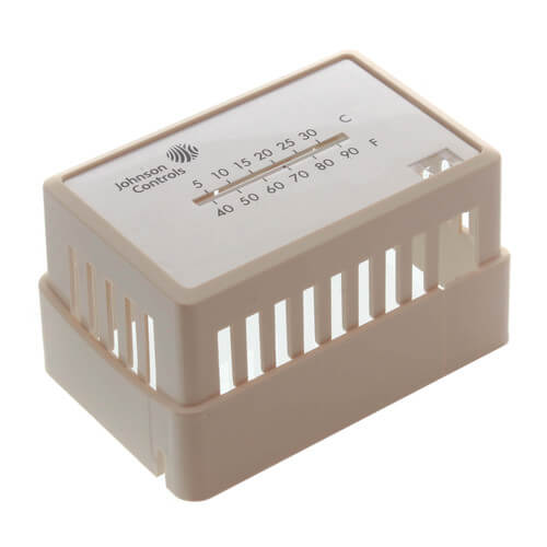 JOHNSON CONTROLS T-4000-2142 Beige Thermostat Cover Plate Assembly,Exposed setpoint, with °F/°C thermometer (Horizontal Mount)