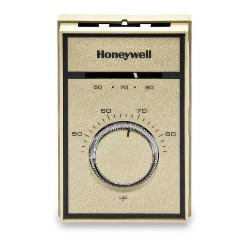 HONEYWELL T651A3018 Medium Duty Line Voltage Thermostat, 44-86F